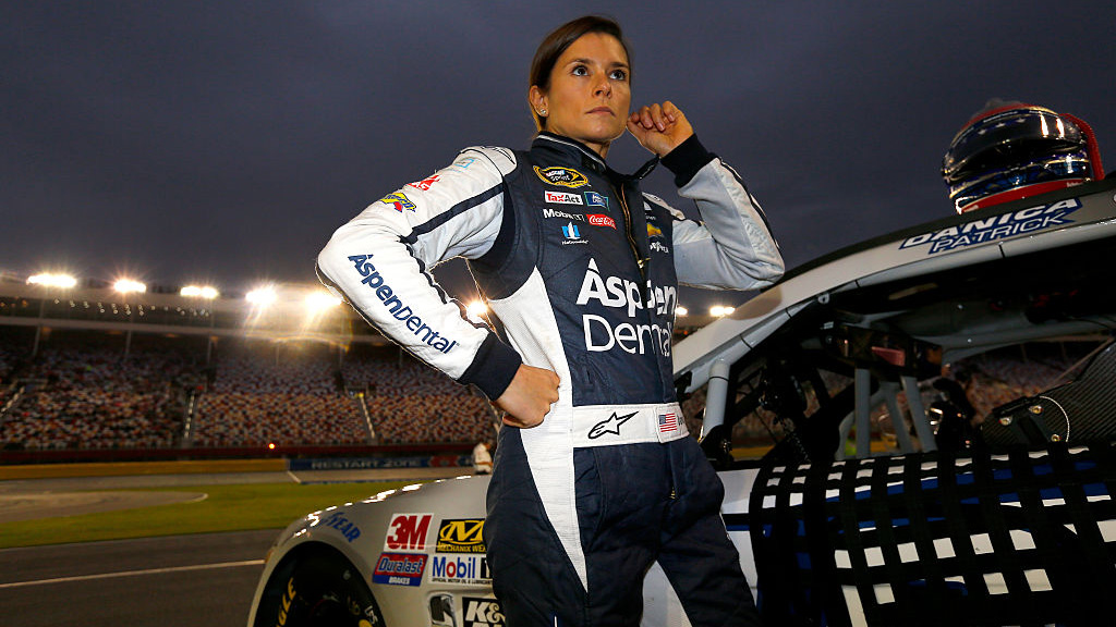 CHARLOTTE, NC - OCTOBER 06:  Danica Patrick, driver of the #10 Aspen Dental Chevrolet, stands on the grid during qualifying for the NASCAR Sprint Cup Series Bank of America 500 at Charlotte Motor Speedway on October 6, 2016 in Charlotte, North Carolina.  (Photo by Jonathan Ferrey/NASCAR via Getty Images)