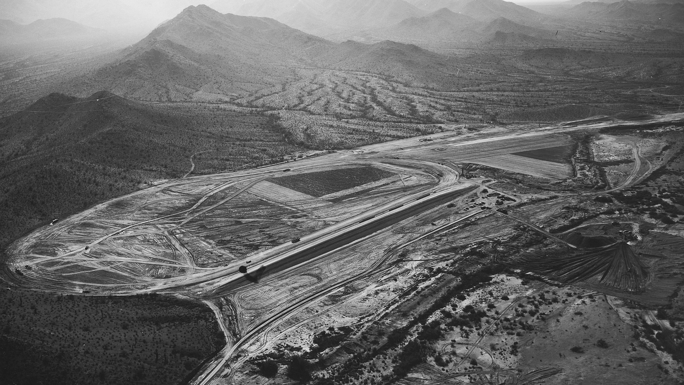 PHOENIX, AZ:  Aerial view of Phoenix International Raceway.  (Photo by ISC Archives via Getty Images)