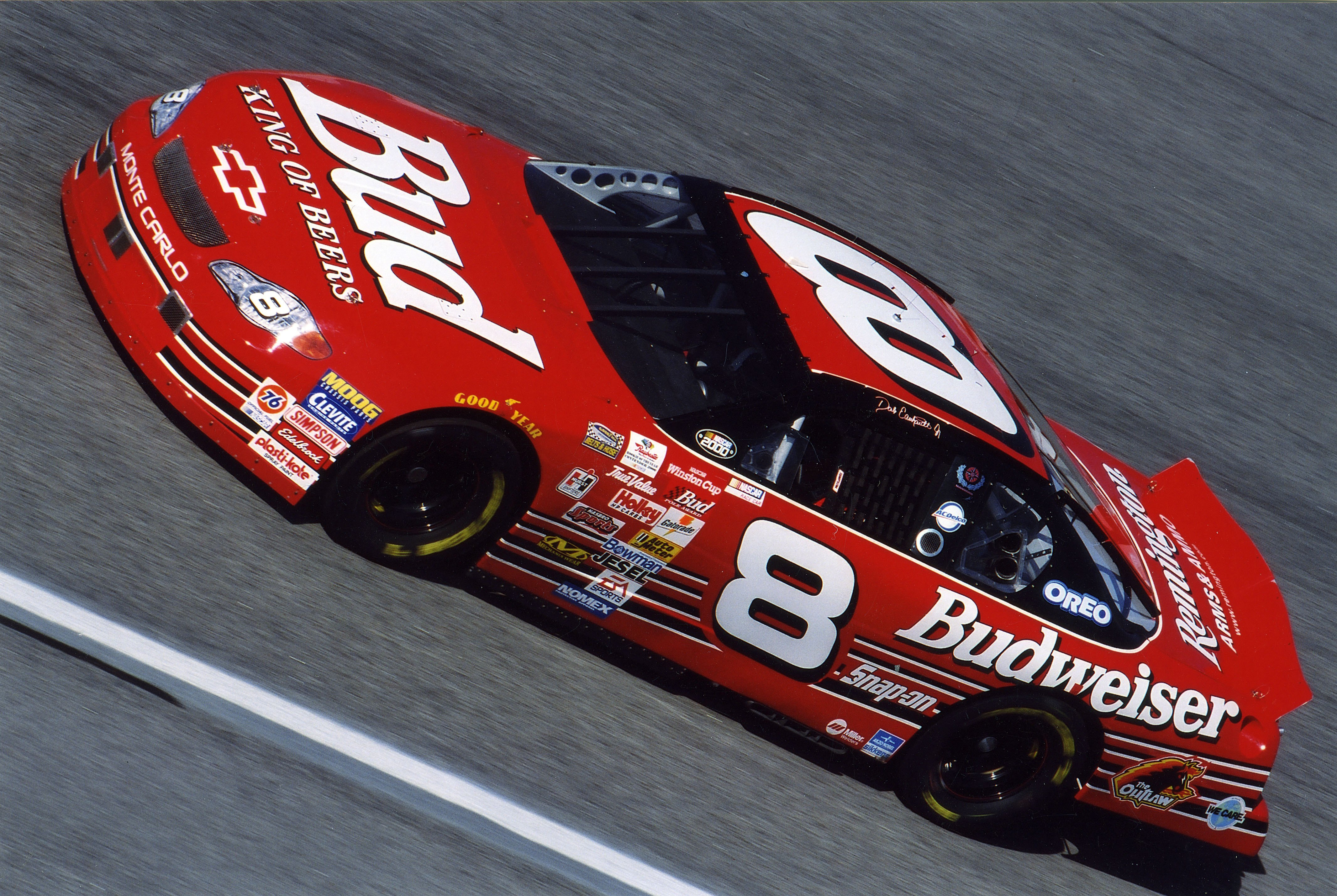 DAYTONA BEACH, FL - FEBRUARY 20: Dale Earnhardt Jr. competed in his first ever Daytona 500 finishing 13th on February 20, 2000 in Daytona Beach, Florida. (Photo by ISC Archives via Getty Images)
