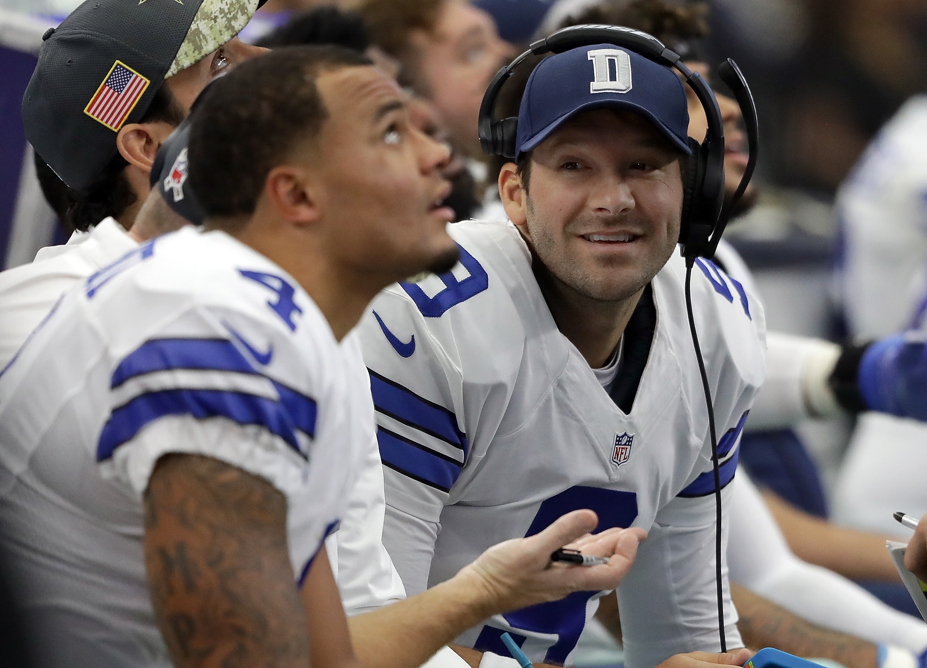 Tony Romo's first TD pass of 2016 season