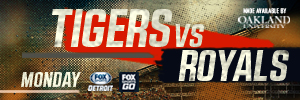 thumbnail_Matchup web banner 2017 Tigers vs Royals MONDAY 0529