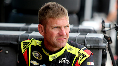 HOMESTEAD, FL - NOVEMBER 19:  Clint Bowyer, driver of the #15 5-hour Energy Chevrolet, sits in the garage area during practice for the NASCAR Sprint Cup Series Ford EcoBoost 400 at Homestead-Miami Speedway on November 19, 2016 in Homestead, Florida.  (Photo by Jerry Markland/Getty Images)