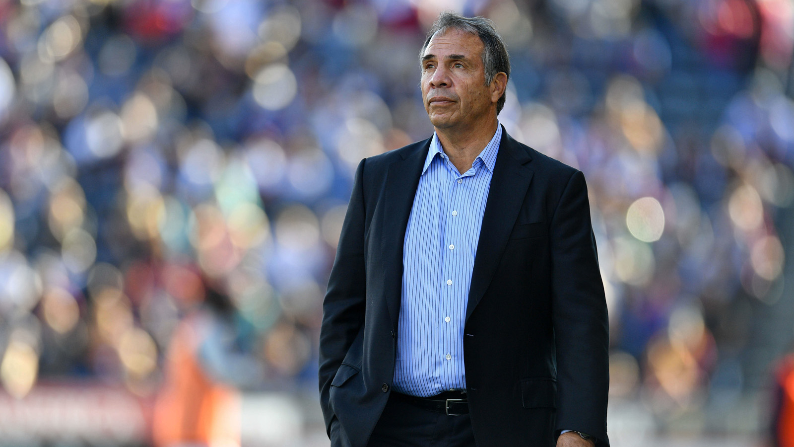 Nov 6, 2016; Commerce City, CO, USA; Los Angeles Galaxy head coach Bruce Arena in the second half of the playoff match against the Colorado Rapids at Dick's Sporting Goods Park. Rapids win 1-0 in a shootout (3-1). Mandatory Credit: Ron Chenoy-USA TODAY Sports