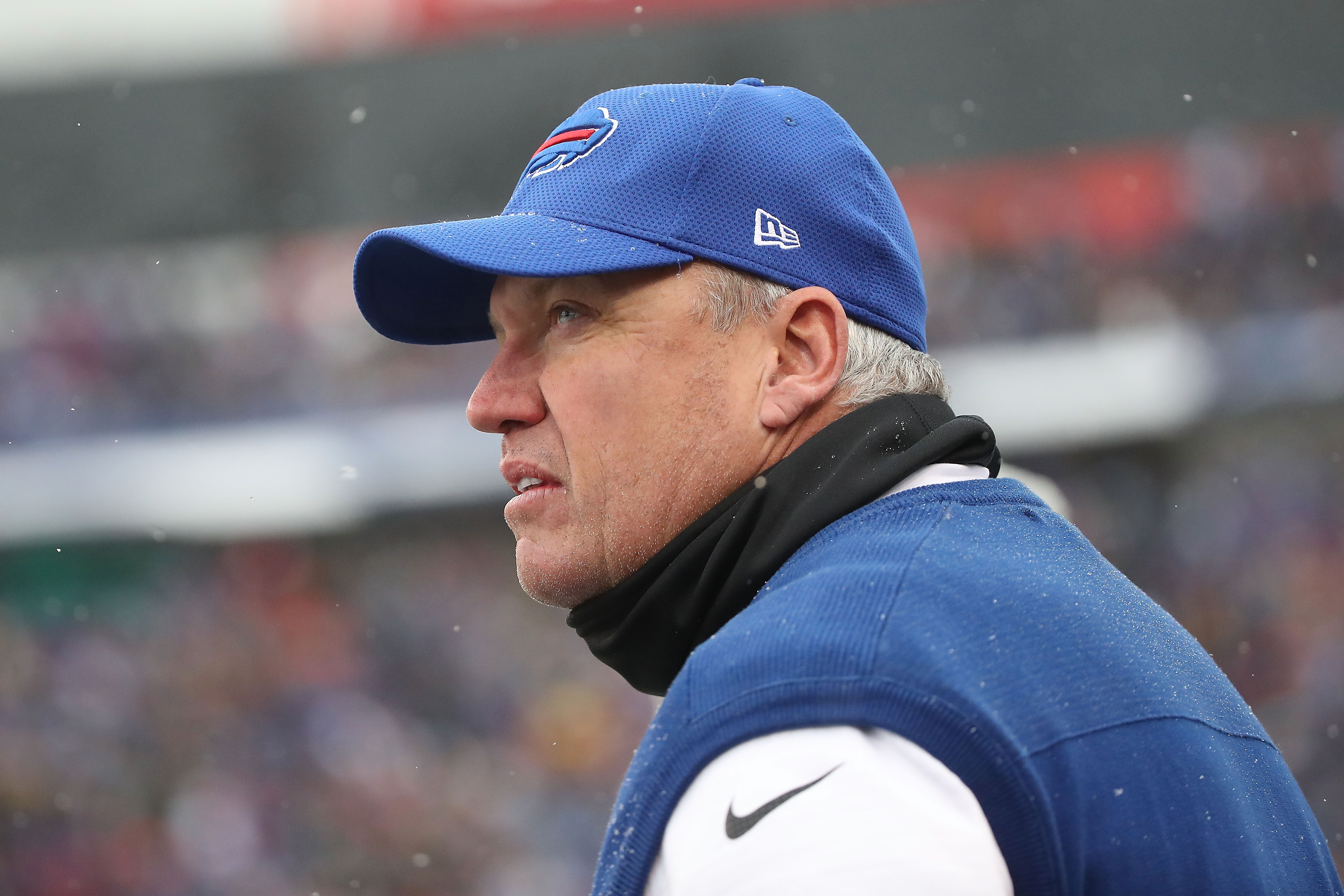 ORCHARD PARK, NY - DECEMBER 11:  Head coach Rex Ryan of the Buffalo Bills during the first half against the Pittsburgh Steelers at New Era Field on December 11, 2016 in Orchard Park, New York.  (Photo by Tom Szczerbowski/Getty Images)