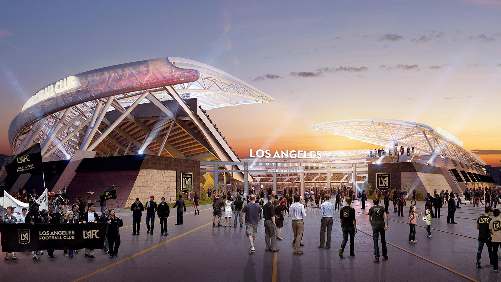 LAFC rendering NE plaza PI