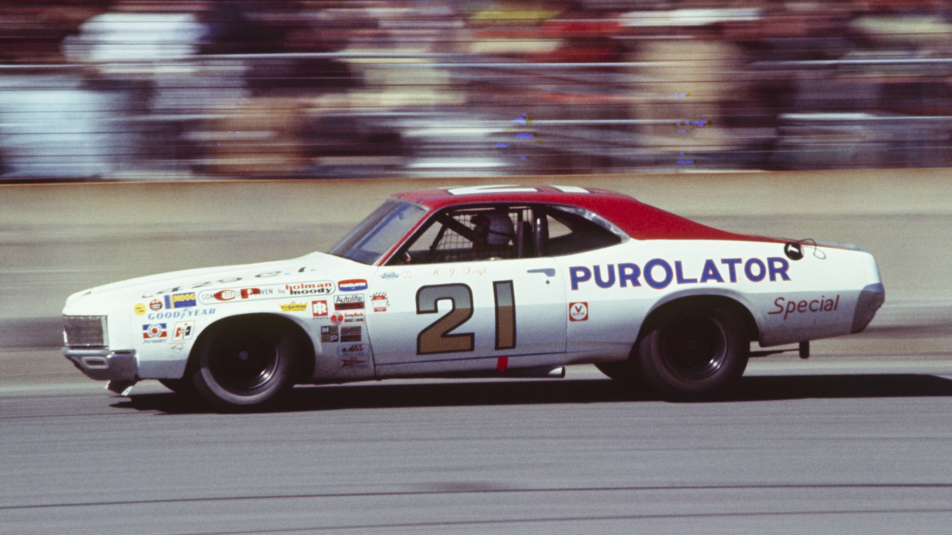 UNITED STATES - FEBRUARY 20:  1972 Daytona 500 - NASCAR. Race winner A.J. Foyt of the Wood Brothers team drives his Purolator '71 Mercury.  (Photo by Bob D'Olivo/The Enthusiast Network/Getty Images)