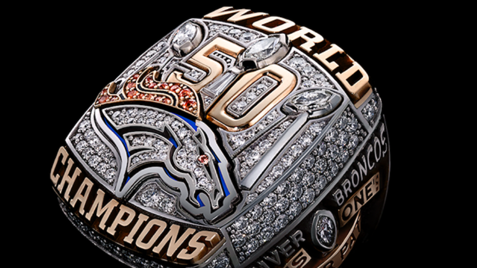 encrusted rings bowl diamond gallery fox all nfl broncos sports super pictures in ring their glory of