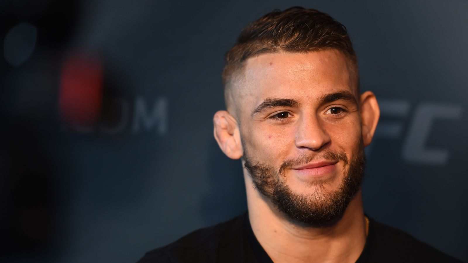 BROOKLYN, NY - FEBRUARY 08: Dustin Poirier interacts with the media during the UFC 208 Ultimate Media Day at the Barclays Center on February 8, 2017 in Brooklyn, New York. (Photo by Jeff Bottari/Zuffa LLC/Zuffa LLC via Getty Images)