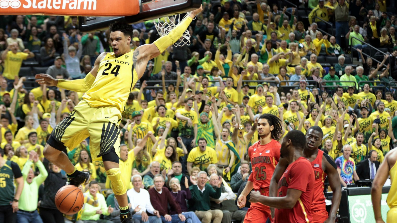 2-6-2017 Dillon Brooks Oregon-Arizona