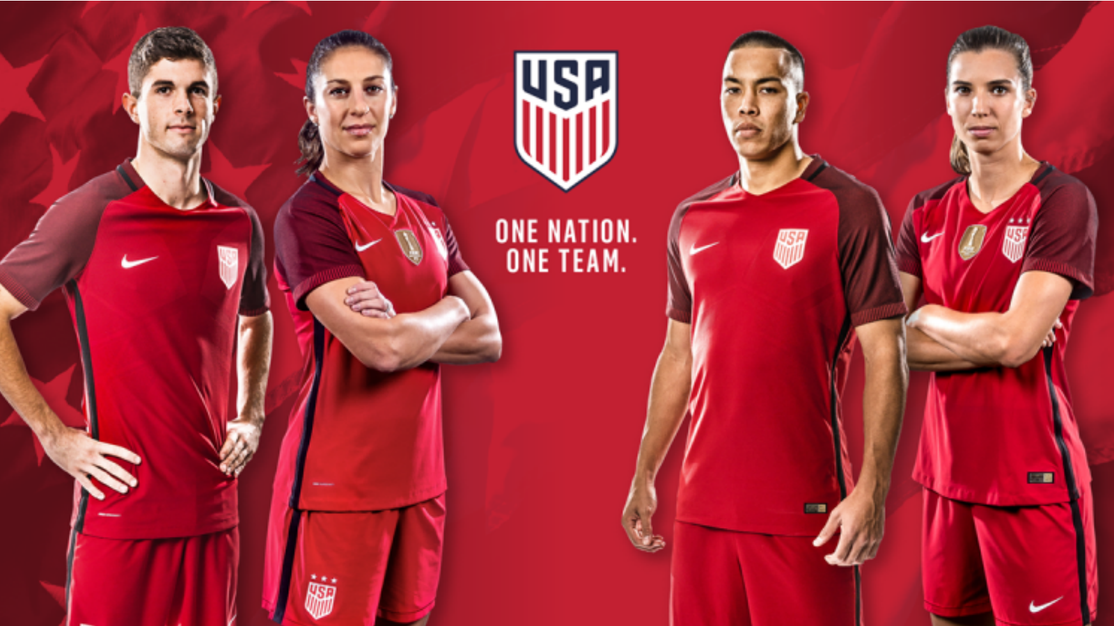 2017 US Soccer Red Jersey rel