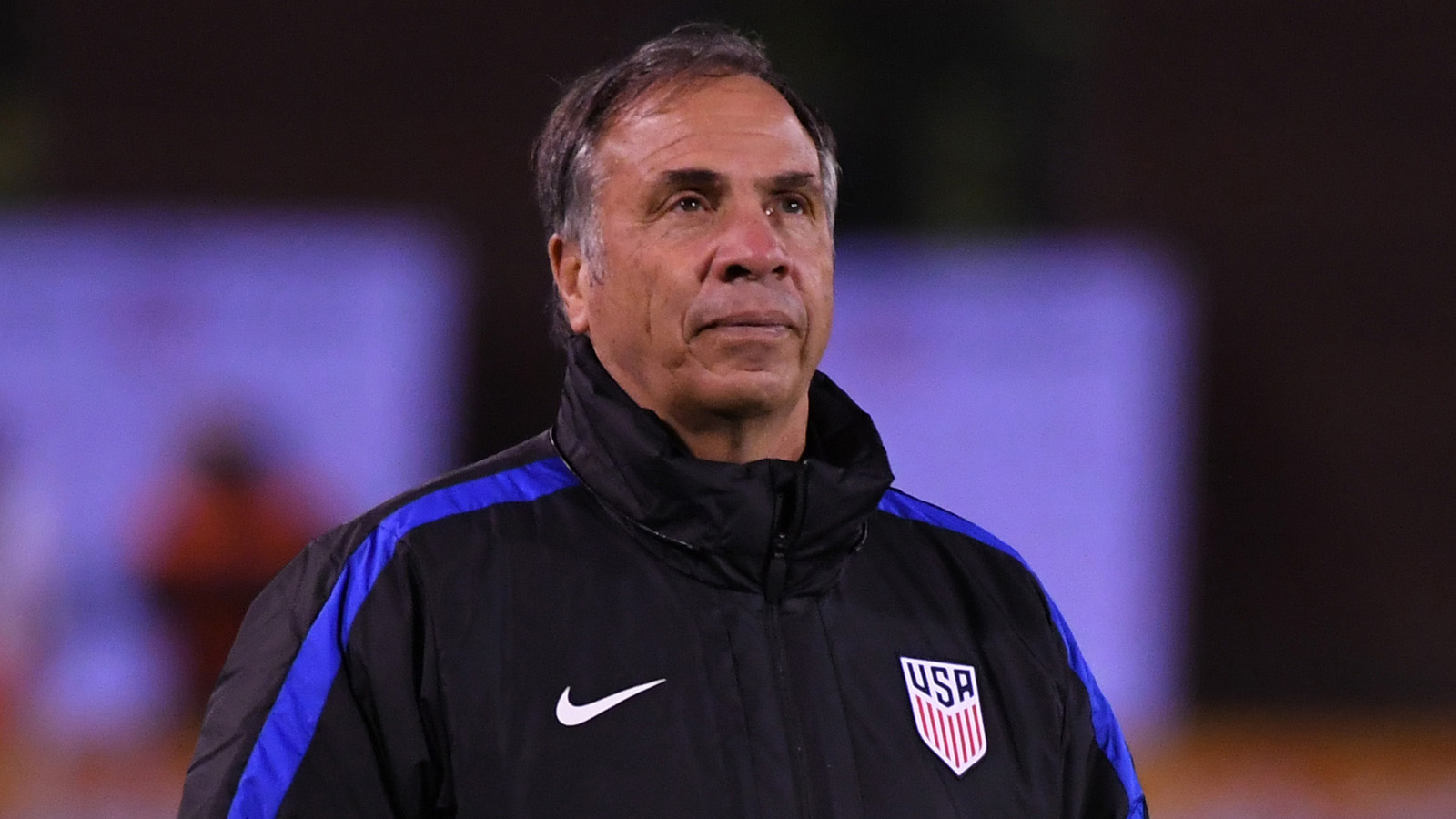 Feb 3, 2017; Chattanooga, TN, USA; United States head coach Bruce Arena prior to the international friendly game against Jamaica at Finley Stadium. Mandatory Credit: Christopher Hanewinckel-USA TODAY Sports