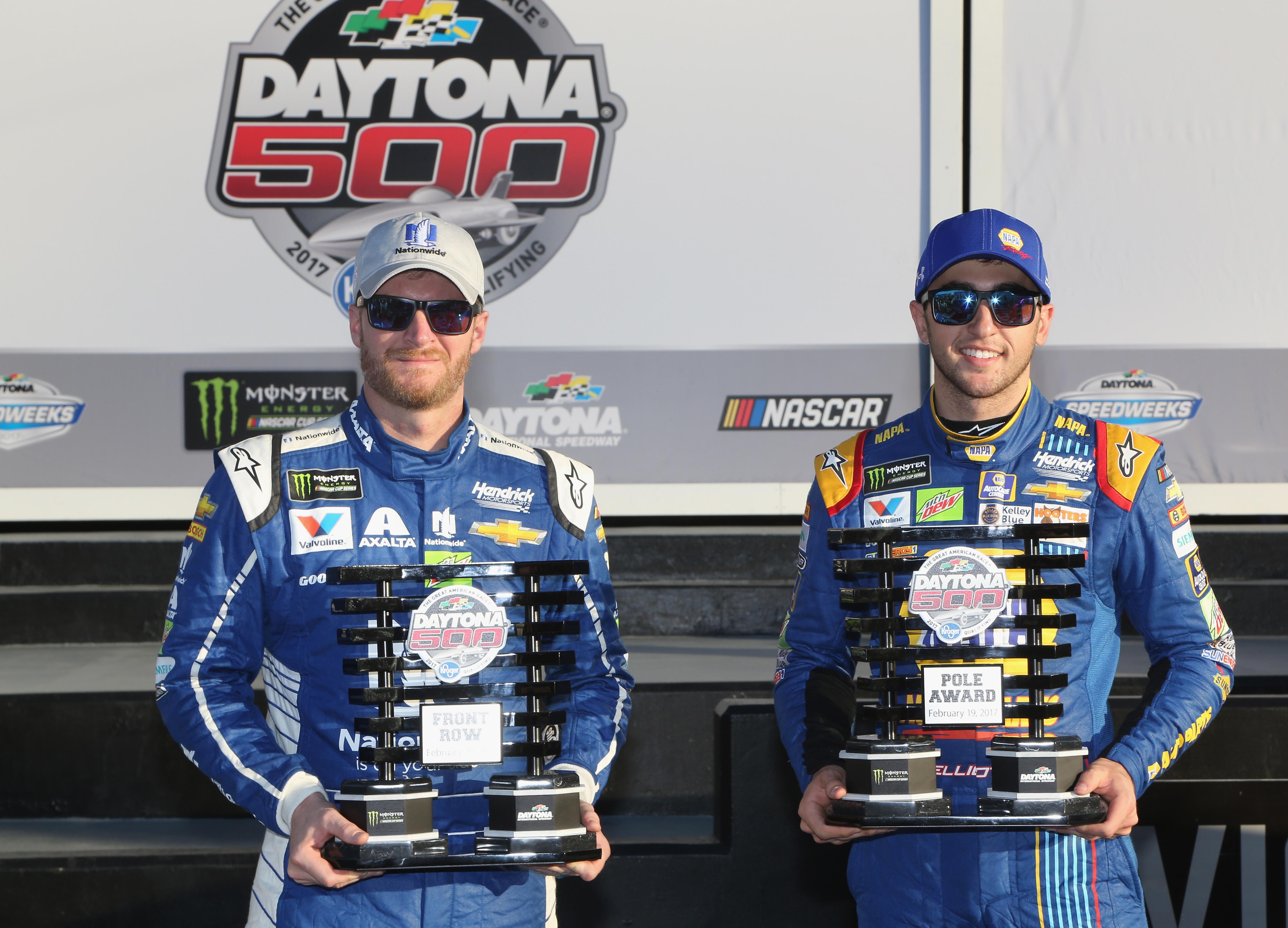 Dale-Earnhardt-Jr-Chase-Elliott-Daytona-500-front-row