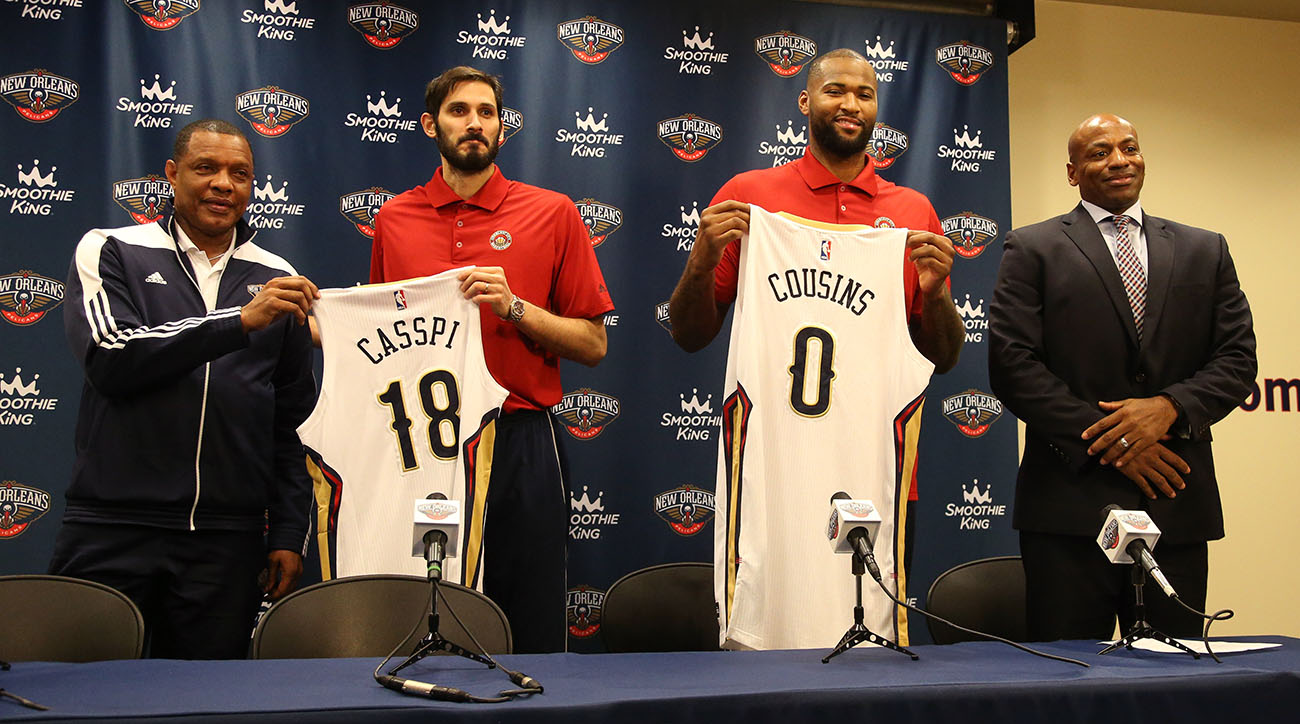 DeMarcus Cousins and Omri Casspi New Orleans Pelicans Press Conference