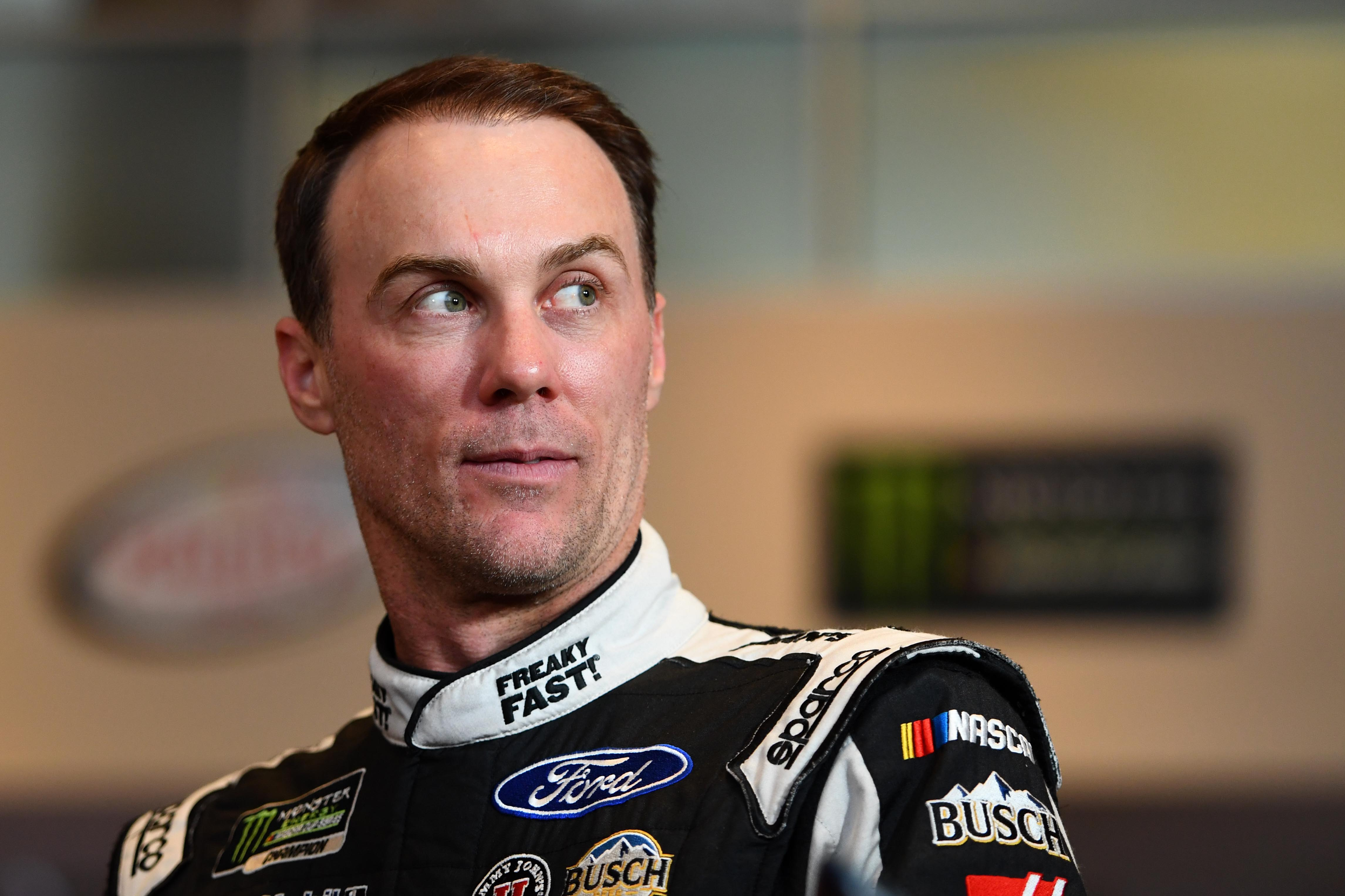 Feb 22, 2017; Daytona Beach, FL, USA; NASCAR Cup Series driver Kevin Harvick during Daytona 500 media day at Daytona International Speedway. Mandatory Credit: Mike DiNovo-USA TODAY Sports