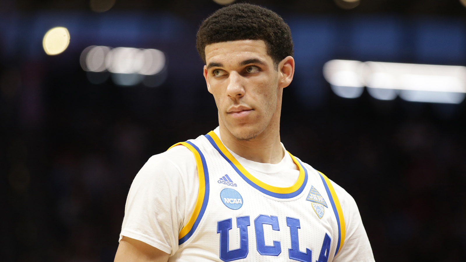 Mar 19, 2017; Sacramento, CA, USA; UCLA Bruins guard Lonzo Ball (2) look on in game against the Cincinnati Bearcats during the second round of the 2017 NCAA Tournament at Golden 1 Center. Mandatory Credit: Kelley L Cox-USA TODAY Sports