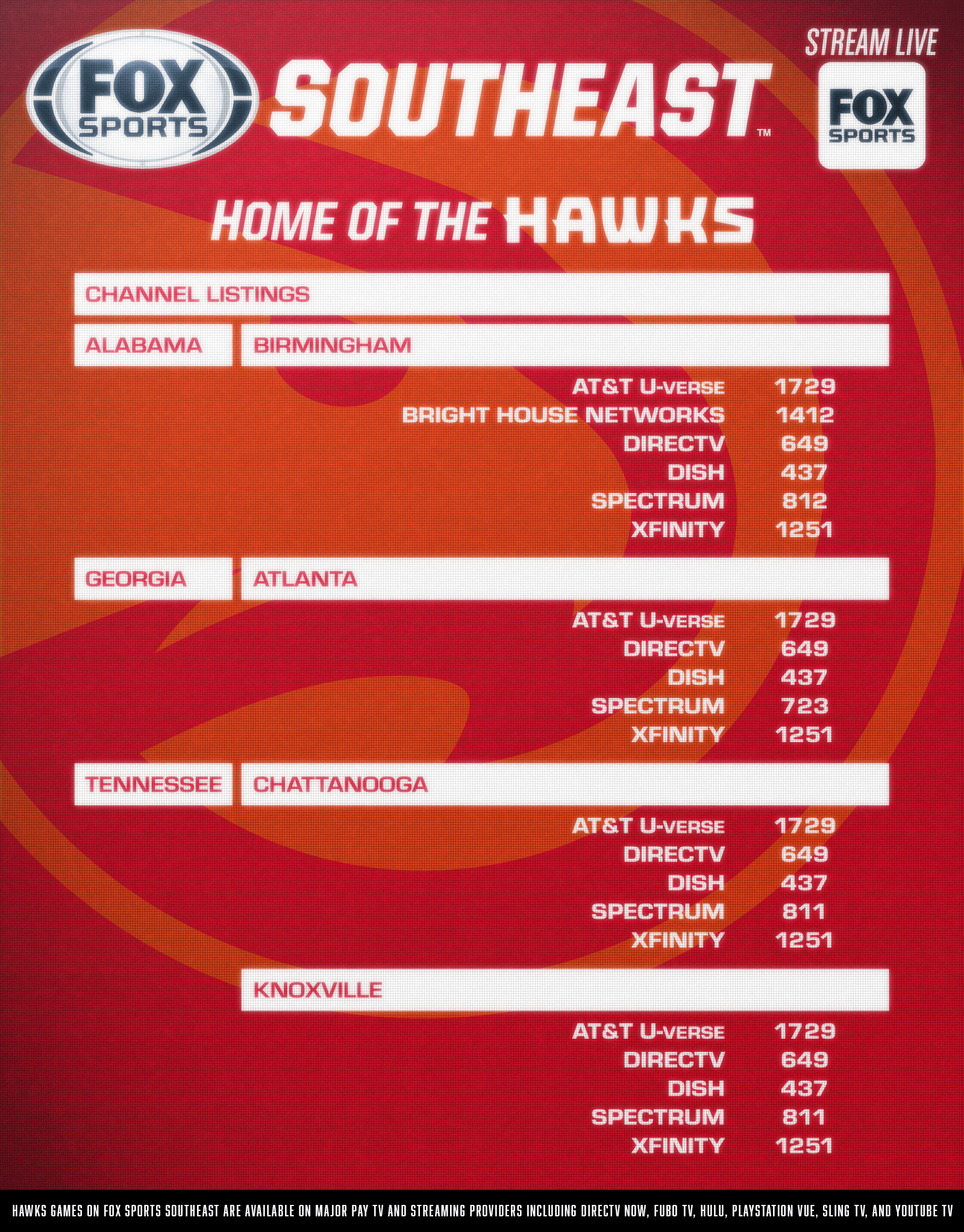 atlanta hawks channel listings | fox sports