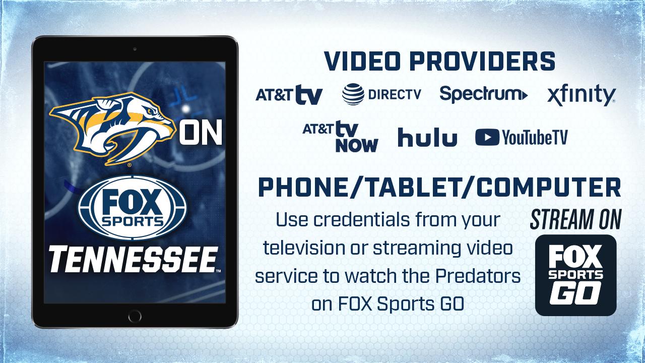 Nashville Predators Channel Listings Fox Sports