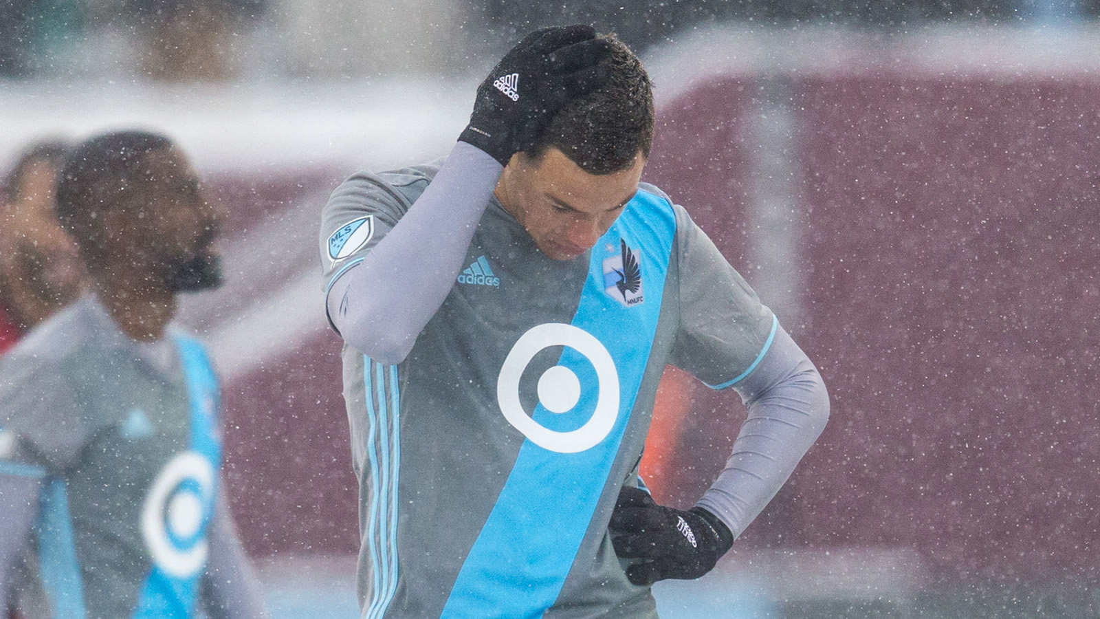 Mar 12, 2017; Minneapolis, MN, USA; Minnesota United forward Christian Ramirez (21) looks on during the second half against Atlanta United at TCF Bank Stadium. Atlanta United defeated Minnesota United 6-1. Mandatory Credit: Brace Hemmelgarn-USA TODAY Sports