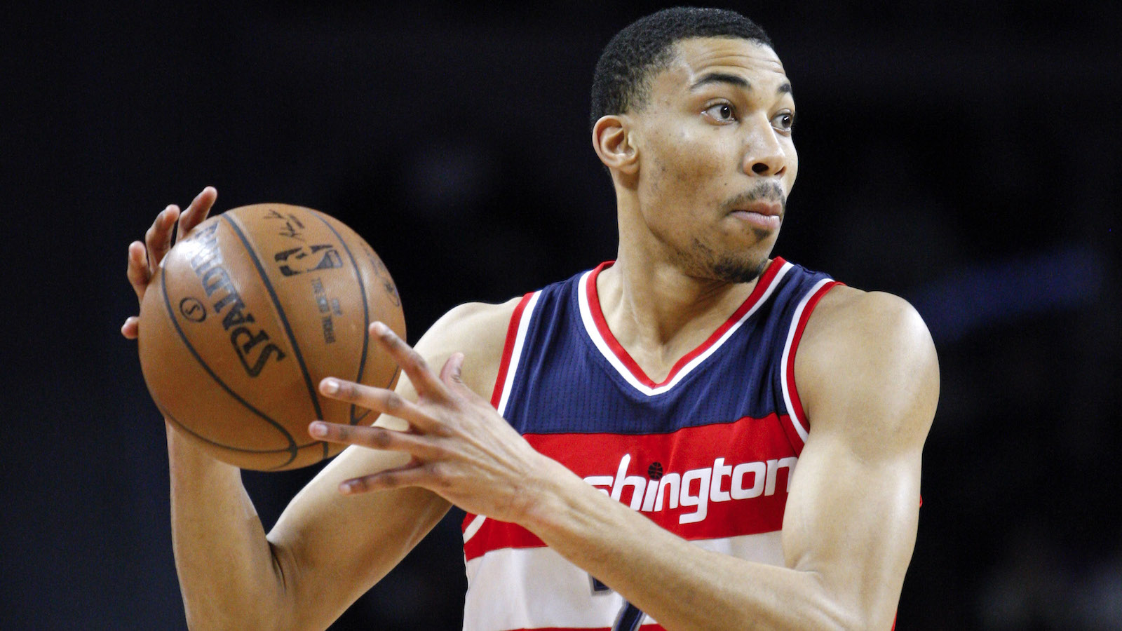 Apr 8, 2016; Auburn Hills, MI, USA; Washington Wizards forward Otto Porter Jr. (22) looks for an open man during the first quarter against the Detroit Pistons at The Palace of Auburn Hills. Mandatory Credit: Raj Mehta-USA TODAY Sports