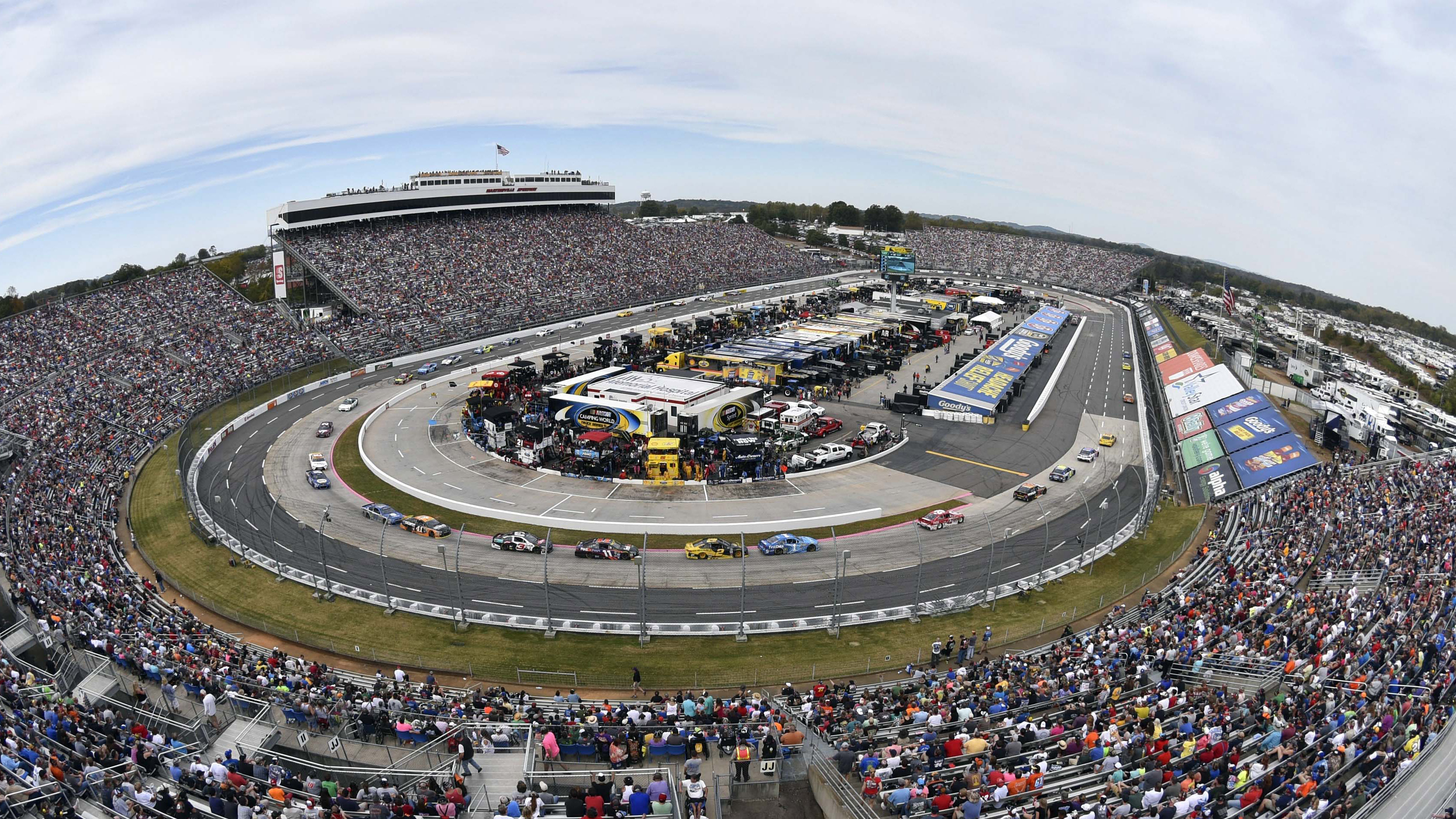 Oct 30, 2016; Martinsville, VA, USA; A general view of Martinsville Speedway during the Goody's Fast Relief 500. Mandatory Credit: Michael Shroyer-USA TODAY Sports