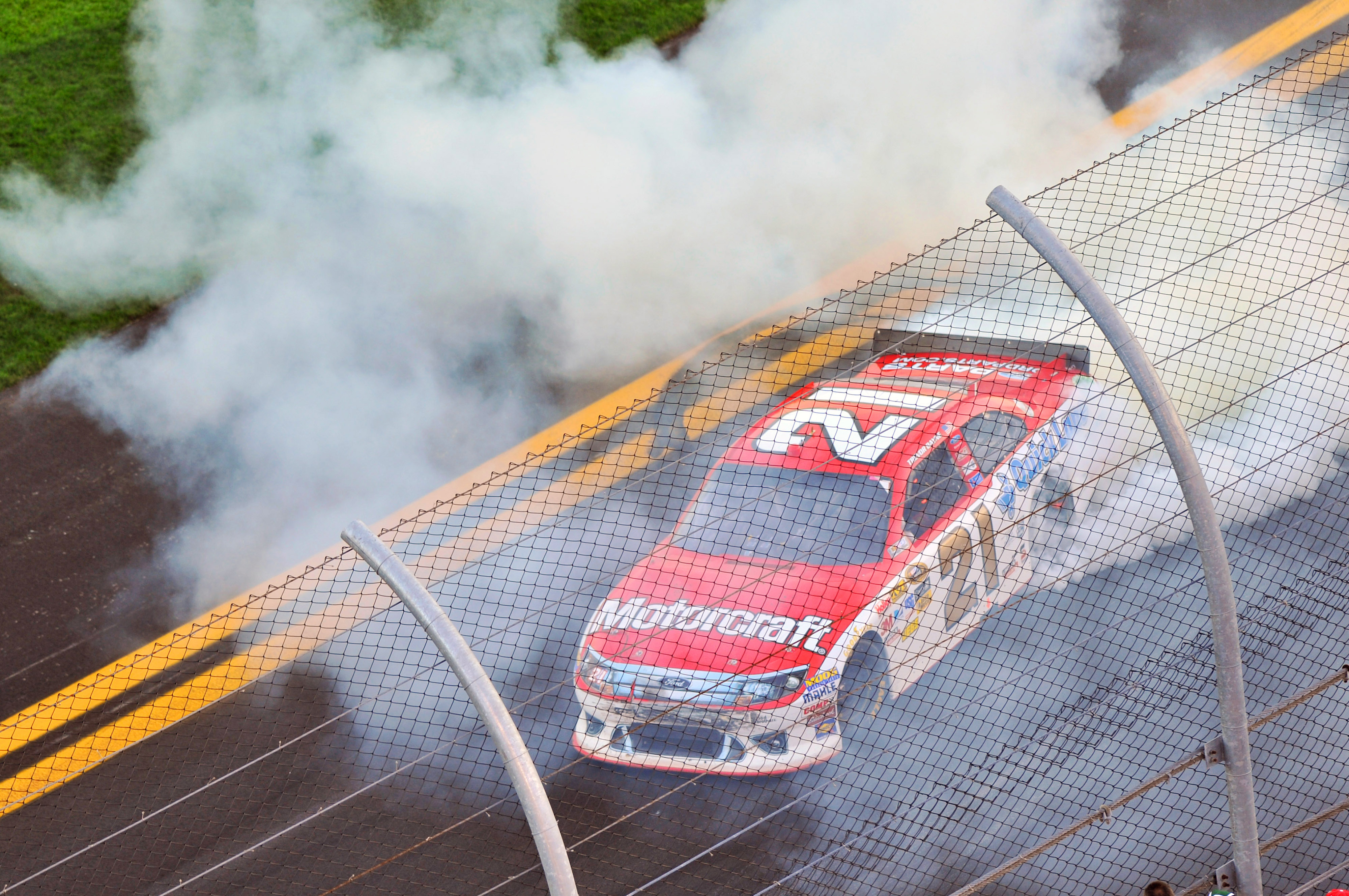 12-20 February, 2011, Daytona Beach, Florida, USA Trevor Bayne celebrates his win