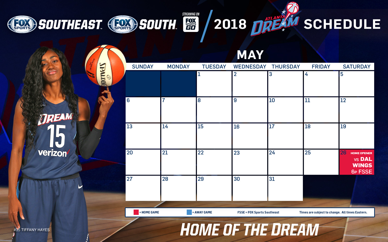 atlanta dream tv schedule: may | fox sports