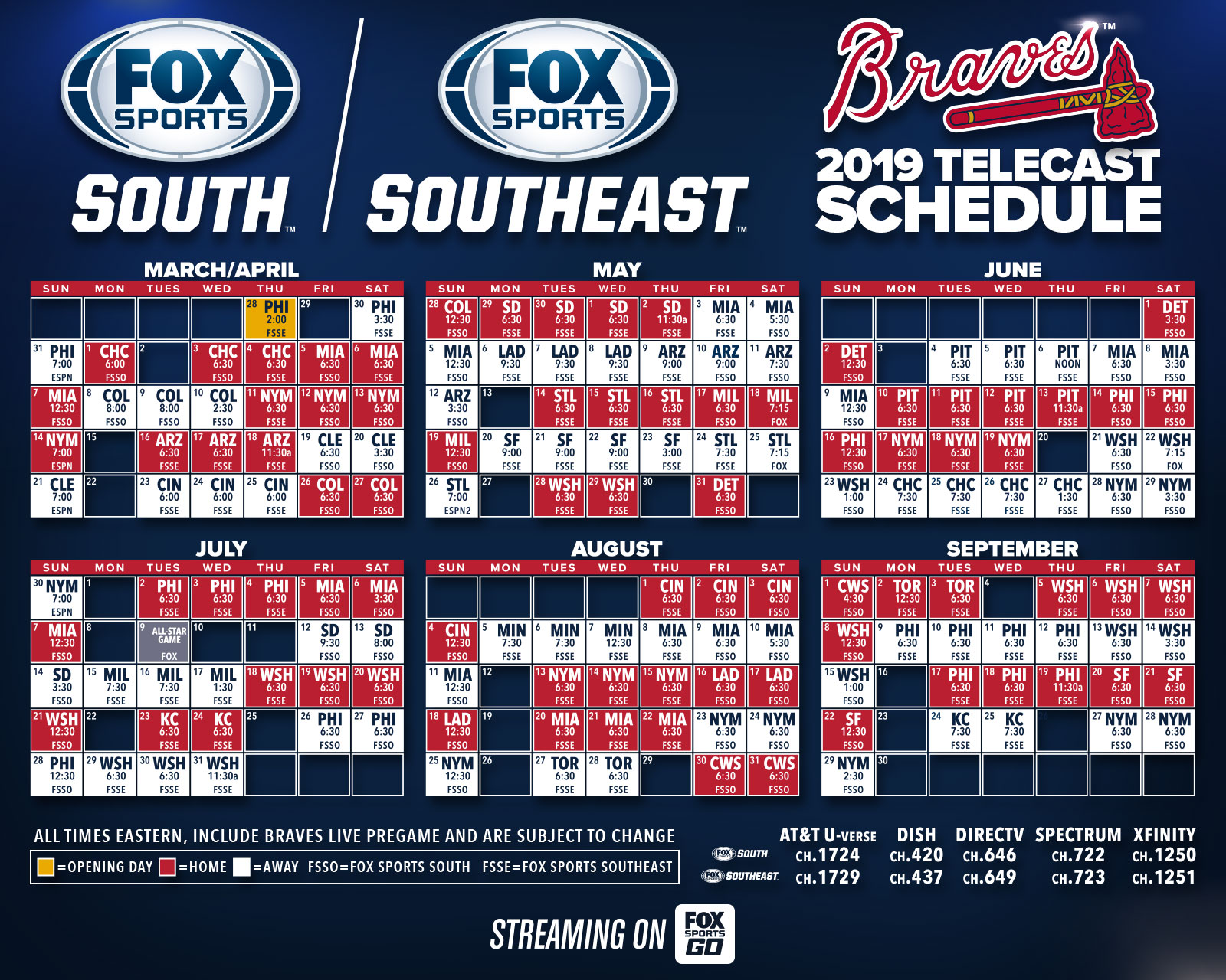 graphic relating to Atlanta Braves Tv Schedule Printable titled Braves Agenda Plan for Atlanta Braves admirers with Tv set