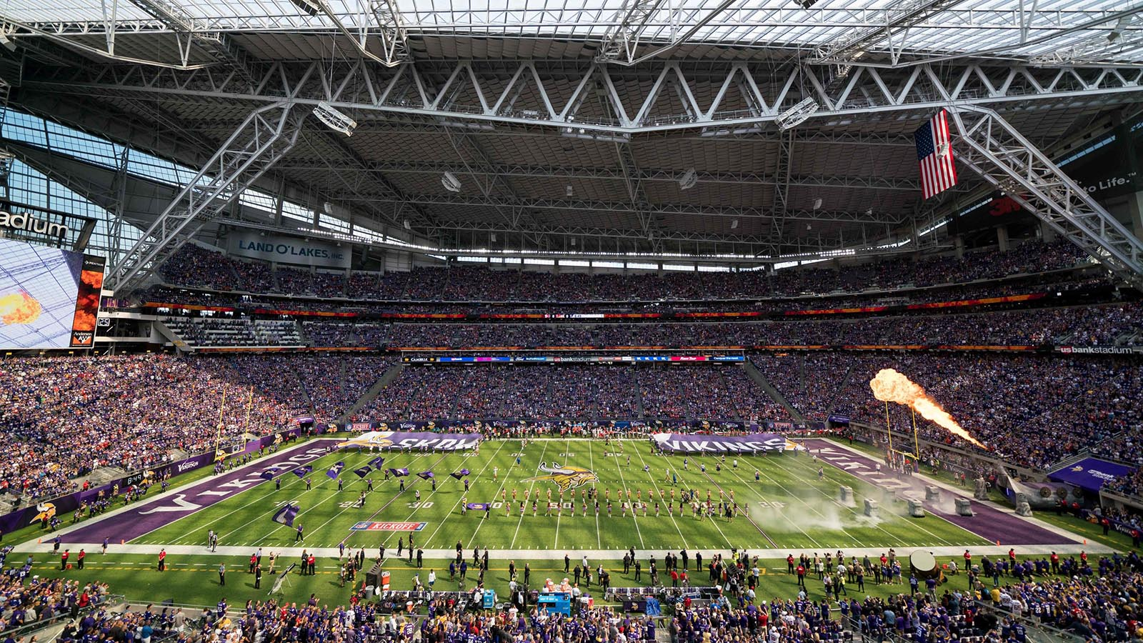 Sep 9, 2018; Minneapolis, MN, USA; A general view of U.S. Bank stadium before the game between the Minnesota Vikings and San Francisco 49ers. Mandatory Credit: Brad Rempel-USA TODAY Sports