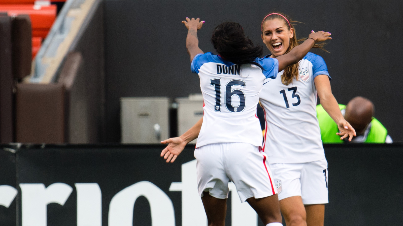 070216 USWNT Alex Morgan Crystal Dunn PI